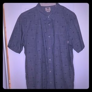 EUC Van's Short Sleeve Button Up